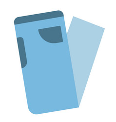 Blue jeans flat vector