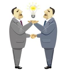 Businessmen handshake solution business deal vector