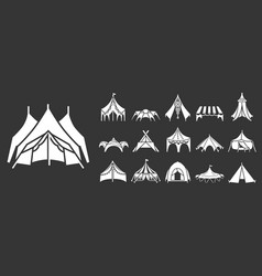 Canopy icon set simple style vector