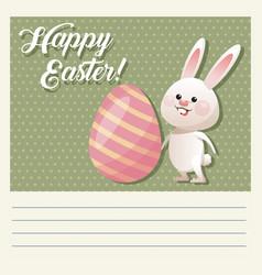 Cartoon happy easter cute bunny egg decorative vector
