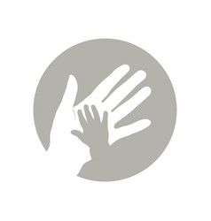 Child and mother hand vector