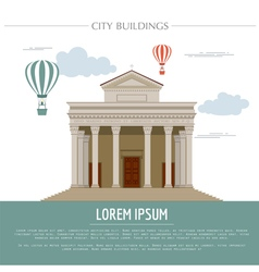 City buildings graphic template Italian basilica vector