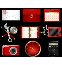 Collection luxury icons vector