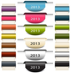 Colorful bookmarks stickers 2013 vector image