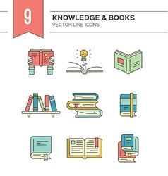 Colorful Books vector