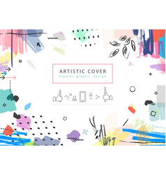 creative universal floral artictic cover in vector image