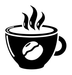 cup coffee icon simple black style vector image