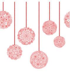 decorative seamless christmas border vector image