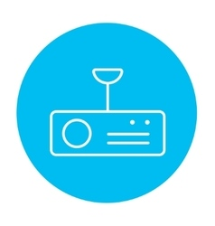 Digital projector line icon vector image