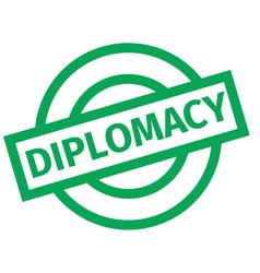 Diplomacy typographic stamp vector