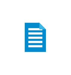 document icon design template isolated vector image