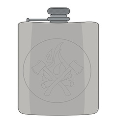 Drinking flask Color vector