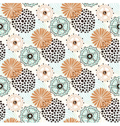 ethnic pattern circles background for wrapping vector image