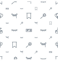 Festival icons pattern seamless white background vector
