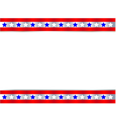 festive united states flag symbol frame vector image