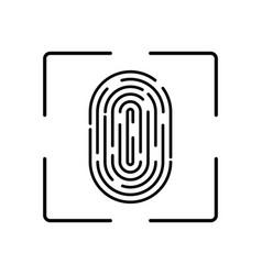 fingerprint biometric identification vector image