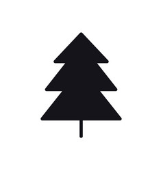 Fir tree icon spruce forest hiking sign and vector