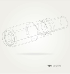 Frame pipe lines vector image