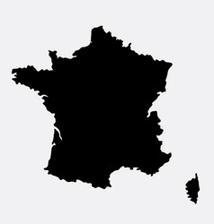 France island map silhouette vector