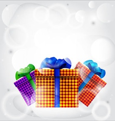 Gifts in colored boxes vector image