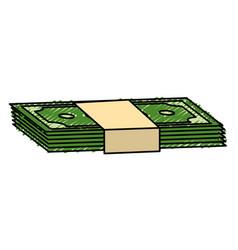 Green bills dolar money vector