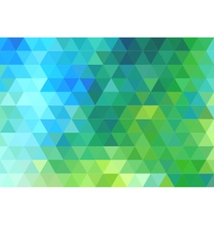 Green blue triangle background vector