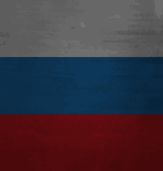 Grunge messy flag russia vector