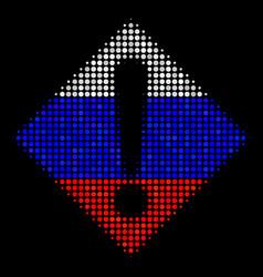 halftone russian warning icon vector image