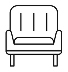 Home armchair icon outline style vector