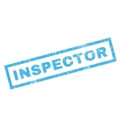 Inspector Rubber Stamp vector