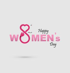 International women day symbol vector