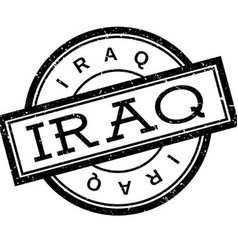 Iraq rubber stamp vector