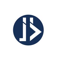 Letter j b modern vector