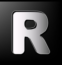 letter r sign design template element vector image