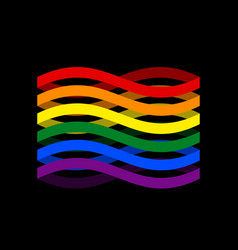 lgbtq flag ribbon isolated pride lgbt symbol tape vector image