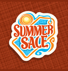 Logo for summer sale vector