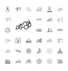 Machinery icons vector