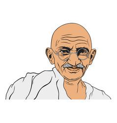 Mahatma gandhi portrait vector