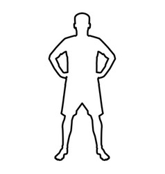 man holding hands on belt confidence concept vector image