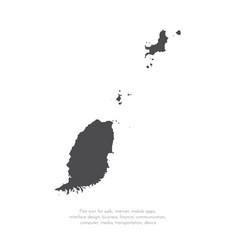 map grenada isolated black vector image