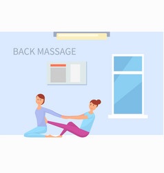 Massage back treatment therapy masseuse vector