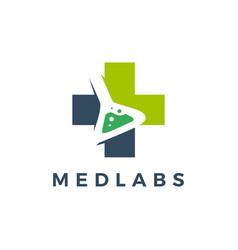 medical labs logo icon vector image