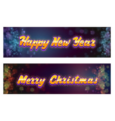 merry christmas and happy new year on the vector image