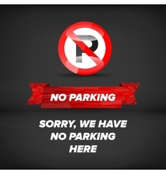 No parking sign vector