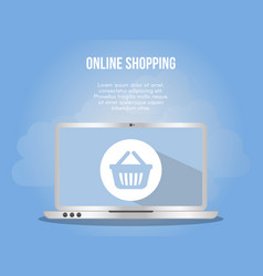 online shopping concept design template vector image