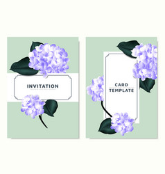purple hydrangea and philodendron silk leaves vector image
