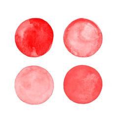 Red blood circles set vector