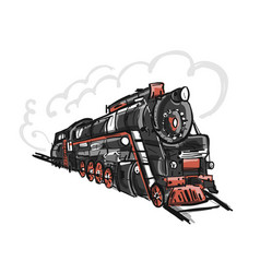 Retro train sketch for your design vector