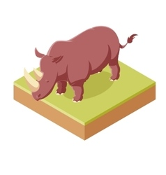 Rhinoceros isometric icon vector
