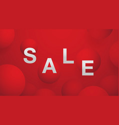 Sale banner on red ball abstract background vector